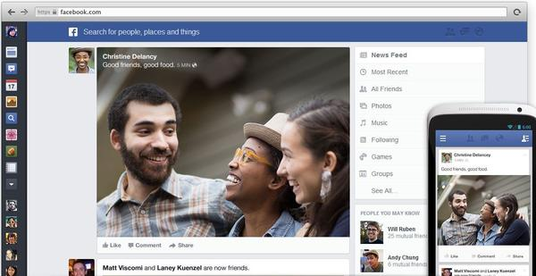 Facebook revealed its new news feed, but many on the Web think the design looks a lot like Google .