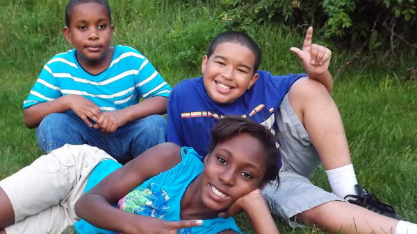Cash'an, left, Maurice Jr. and Camiryn.