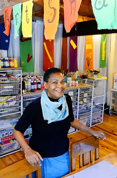 Kweli Kitwana owns Art Shack, Baby!, which opened March 2 at 180 High St. in Harpers Ferry, W.Va.