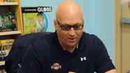 "<span class=""runtimeTopic"">Cal Ripken Jr.</span> was at Ed Smith Stadium to promote his new children's book, ""Wild Pitch,"" and he stopped by and talked to the local media."