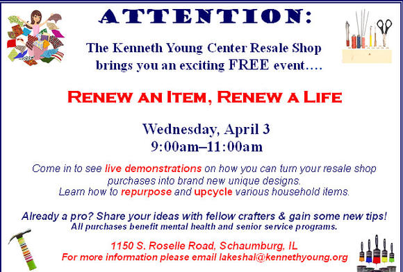 Renew an Item, Renew a Life