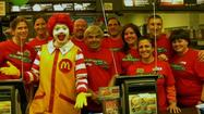 Niles McDonald's hosts Maine East McTeacher'sNight