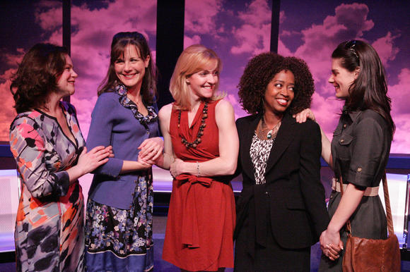 "The cast of the world premiere L.A. production of ""Having It All."""