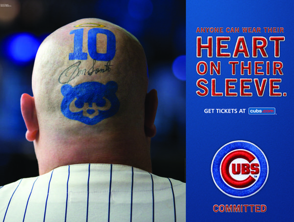 "The Chicago Cubs announced their 2013 marketing campaign with the theme ""Committed."""