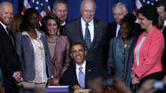 Obama signs Violence Against Women Act