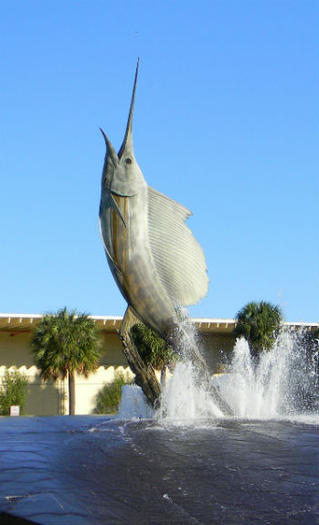 Sailfish sculpture at the Broward Convention Center.