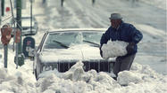 Unlike Wednesday's snowstorm that failed to materialize amid forecasters' dire predictions, the Blizzard of '93 roared into Maryland the weekend of March 13-14 with a wallop, dumping a foot of snow on Baltimore while raking the state with almost hurricane-like winds before racing northward into New England.
