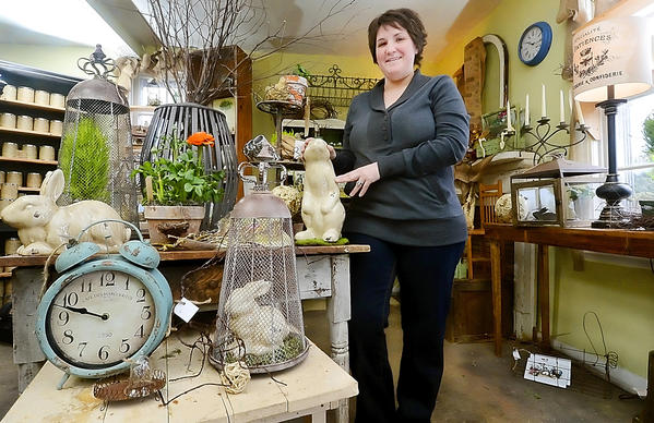 By Ric Dugan/Staff Photographer Jessica Snyder, owner of Guten Tag in Funkstown, is one of about 90 vendors who will display their wares at the Hagerstown Community College Alumni Association's 19th annual Flower and Garden Show.