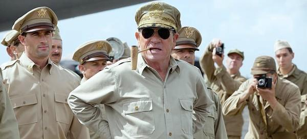 "Tommy Lee Jones as Gen. Douglas MacArthur in ""Emperor."""