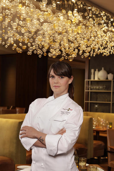 "Mette Williams won the executive chef job at Culina on the show ""Chef Wanted With Anne Burrell."""