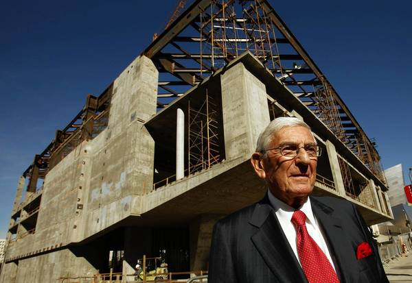 Eli Broad, who is building a museum across from MOCA, agreed in 2008 to give the downtown Los Angeles institution a bailout valued at up to $30 million.