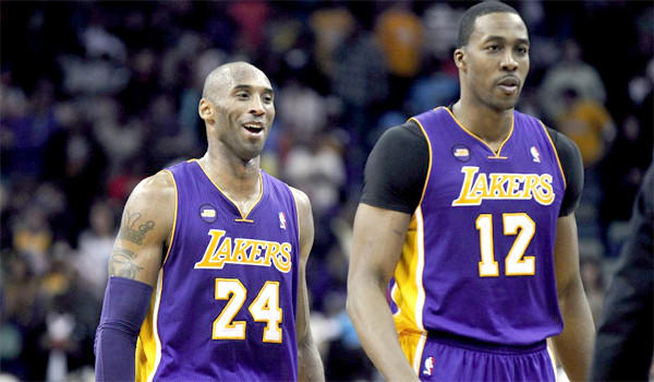 Kobe Bryant, left, and Dwight Howard were named to All-NBA squads, while teammate Pau Gasol also received points.