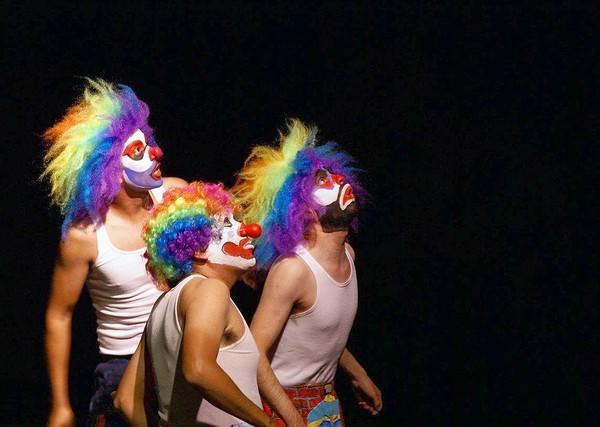 Juan G. Cuevas, left, Enrique Vazquez Lopez and Samuel Ruvalcaba of Teatro Mitote y Cine.