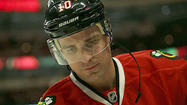 DENVER — When the Blackhawks' charter flight took off for Denver on Thursday afternoon, <b>Marian Hossa</b>, <b>Andrew Shaw</b>, <b>Steve Montador</b> and <b>Brandon Bollig</b> were on it. <b>Patrick Sharp</b> and <b>Michael Frolik</b> were not.