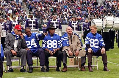 Sun archives: Baltimore Colts photos - Former Colts honored