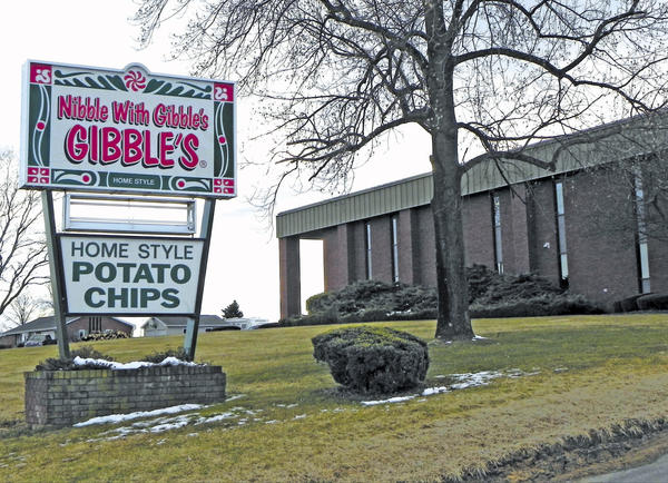 The Gibble's snack food plant on Molly Pitcher Highway south of Chambersburg is seen Thursday shortly after an announcement that the brand would be discontinued.