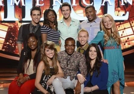 'American Idol' top 10: (Clockwise from top left) Lazaro Arbos, Amber Holcomb, Paul Jolley, Curtis Finch Jr., Janelle Arthur, Kree Harrison, Devin Velez, Burnell Taylor, Angie Miller and Candice Glover.