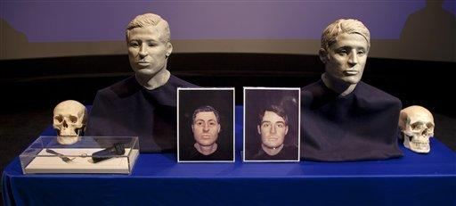 This file photo shows how two sailors from the Civil War ironclad Monitor may have looked. Officials have not been able to identify the men whose remains were found, but hope that a descendant will come forward someday for a DNA comparison.