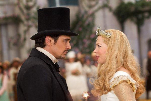 "James Franco and Michelle Williams in ""Oz the Great and Powerful."""