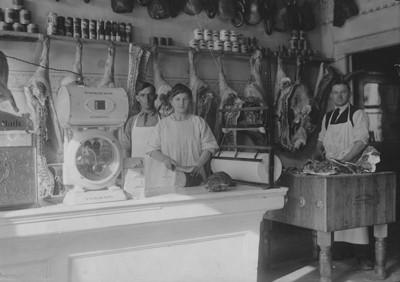 This photograph from 1913 shows the original Plath's Meats store in Rogers City, which developed a nationally known reputation during the decades.