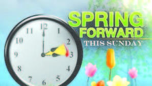 Move your clocks forward on Sunday