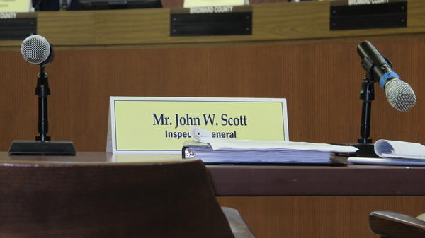 You might not see him, but he sees you. Broward County inspector general, John Scott