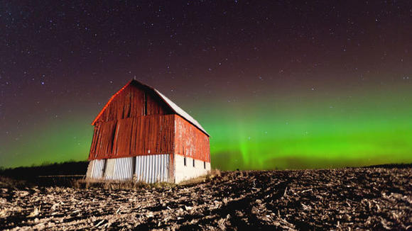 Northern lights captured by Gary Gee in Otsego County.