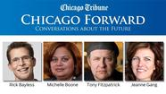 It is rare indeed to find such illustrious cultural names sharing a panel: Michelle Boone, Chicago's Commissioner of Cultural Affairs; Rick Bayless, the famous chef and one of Chicago's most important cultural entrepreneurs; Jeanne Gang, the hugely successful Chicago architect; and Tony Fitzpatrick, artist, commentator and proud outsider.