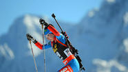 Biathlon World Cup action
