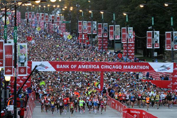 The start of the 2012 Chicago Marathon.