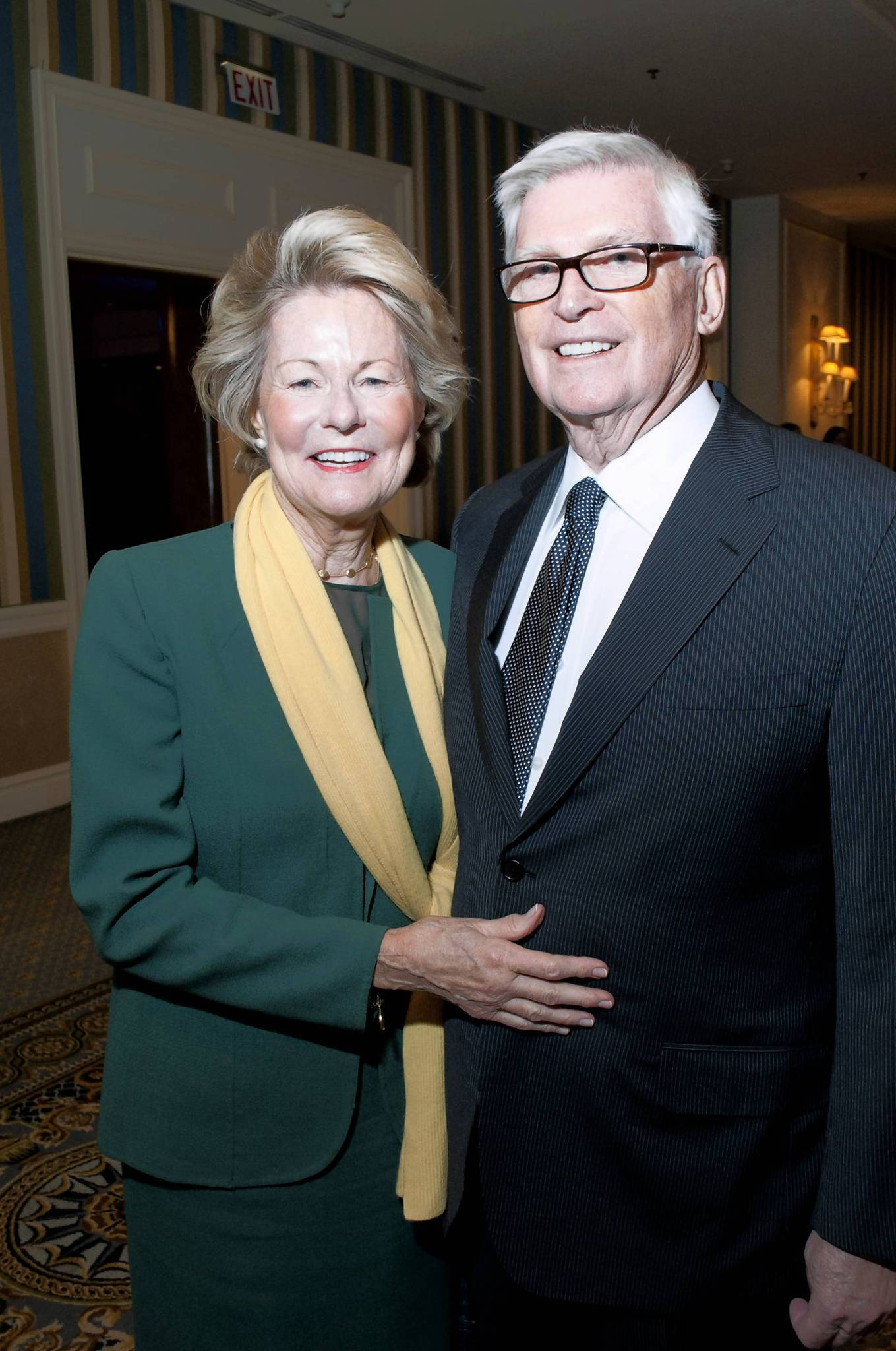 Honoree Shirley Ryan with husband Pat Ryan at the Women in Leadership Awards Luncheon, Friday, February 22, 2013 at the Fairmont Hotel (200 N. Columbus) in Chicago, Illinois.