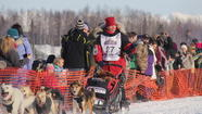 Last year's runner-up in Alaska's Iditarod Trail Sled Dog Race has grabbed the lead in the 1,000-mile trek.