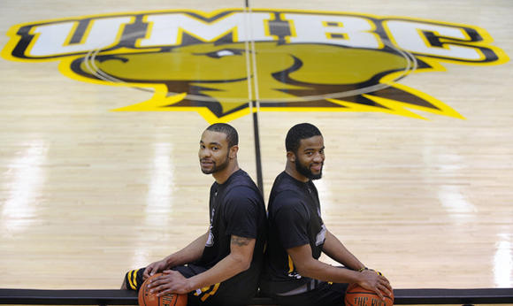 UMBC's Ryan Cook and Quentin Jones