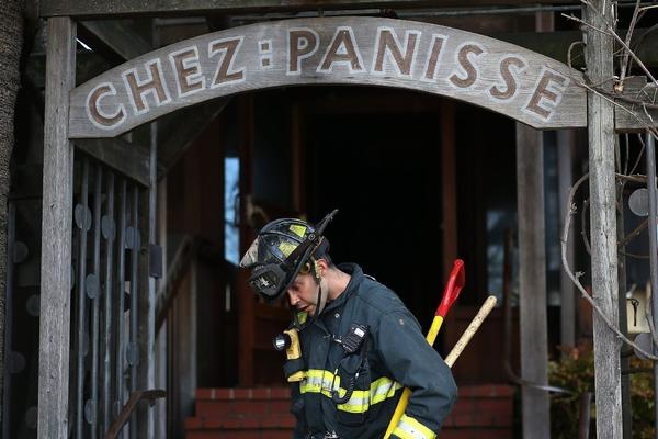 A fire broke out at the famed Chez Panisse in Berkeley early Friday morning.