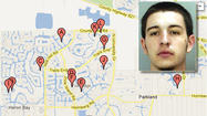 Curtis Gottlieb is accused in 12 home burglaries in Parkland.