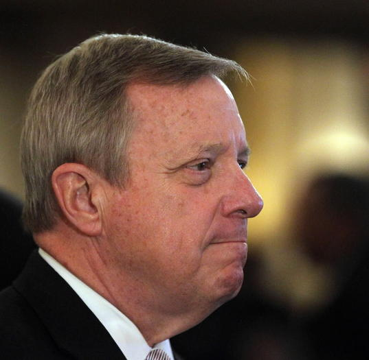 Durbin telling Democrats he'll run in 2014