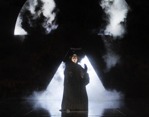"Tómas Tómasson as the Dutchman in L.A. Opera's production of ""The Flying Dutchman"" at Dorothy Chandler Pavilion in Los Angeles."