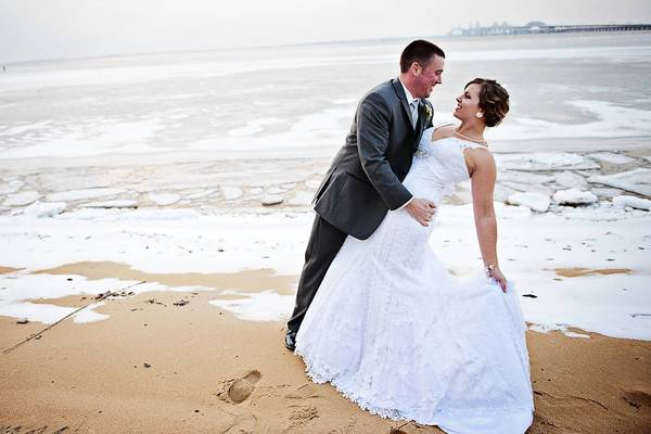 Shellie Bronis and Kenneth Spencer hosted their wedding at the Chesapeake Bay Beach Club in Stevensville.
