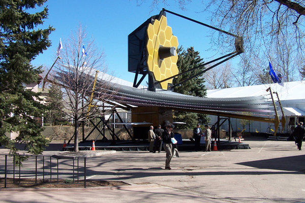 A full-scale model of NASA's James Webb Space Telescope will be at South by Southwest in Austin, Texas, this weekend. Northrop Grumman officials say they hope to set the Guinness World Record for the largest outdoor astronomy lesson Sunday evening.