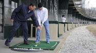 Before teeing it up, weekend golfers limbering up