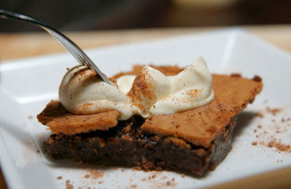 Double chocolate sea salt brownies.
