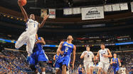 <b>Illinois State 73, Northern Iowa 65: </b>Tyler Brown scored a game-high 28 points as the Illinois State Redbirds recorded a 73-65 win over the Northern Iowa Panthers in the second round of the Missouri Valley Conference tournament at Scottrade Center.