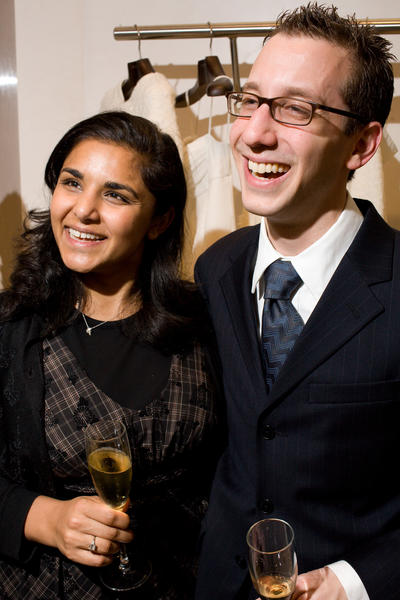 Alpana Singh (left) and her husband Charles Blackstone, shown in 2007