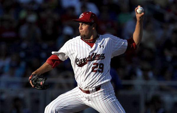 Left-handed starting pitcher Michael Roth was the ace of South Carolina's pitching staff.