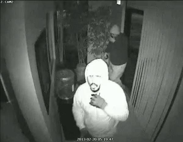 Lauderhill Police are looking for four burglary suspects videotaped stealing landscaping equipment and a truck
