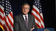As speculation swirled around his potential run for president in 2016, former Florida Gov. Jeb Bush made a plea Friday for greater bipartisanship, hailing President Obama's dinner invitation to a dozen Republican senators this week as a promising development.