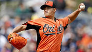 In his second outing of the spring, Orioles lefty Wei-Yin Chen struggled occasionally with his command Friday night, but overall he continued his progression for the regular season.