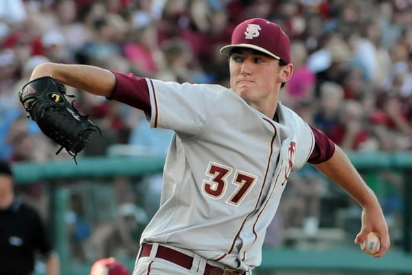 Florida State starting pitcher Brandon Leibrandt threw eight innings of one-hit ball Friday night as the Seminoles beat Boston College 4-0 to open ACC play. The left-hander was looking for a strong start after three rocky outings to begin the season.