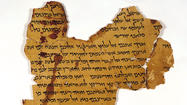 "In June 1954, a small advertisement ran in the Wall Street Journal: ""Biblical manuscripts dating back to at least 200 BC are for sale."" The commercial offering was the start of a long and controversial path for the Dead Sea Scrolls, a cache of fragmentary writings in Hebrew and Aramaic (with a few in Greek) that were found in caves near the Dead Sea between 1947 and 1956."
