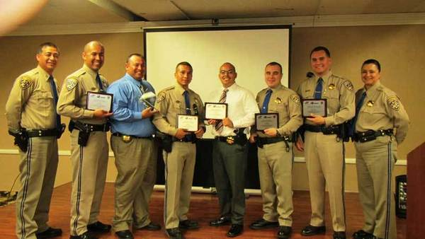 MADD recognized multiple law enforcement agencies from the Imperial Valley for their efforts in making 468 arrests for driving under the influence. The top three DUI recognitions went to CHP Officer Juan Arroyo, CHP Officer Cuauhtemoc Beltran and CHP Officer Alex Torrez.